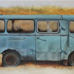 Minibus TAM 75 A5 - 50 x 100 cm - oil on canvas