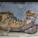 Converse 01 80 x 100 cm - acrylic on canvas