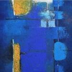 Blue 35 x 35 cm - acrylic on canvas