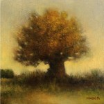 Tree 20 x 20 cm - oil on canvas board