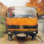 Truck 20 x 20 cm - oil on canvas board