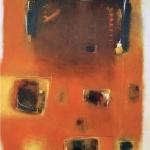 Orange 75 x 60 cm - acrylic on canvas